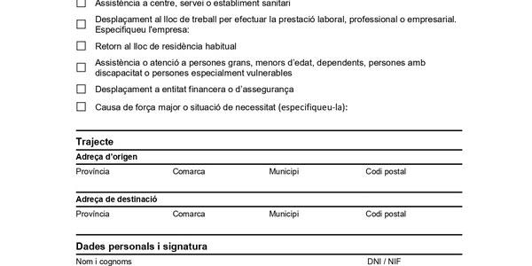 CERTIFICAT DIGITAL AUTORESPONSABLE DE DESPLAÇAMENT