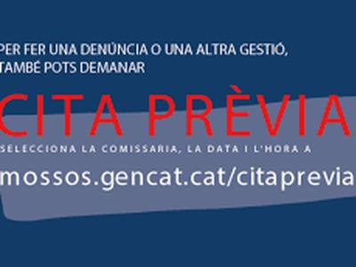CITA PRÈVIA MOSSOS D'ESQUADRA