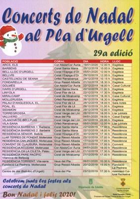 CONCERT DE NADAL AL PLA D'URGELL
