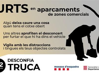FURTS EN APARCAMENTS DE ZONES COMERCIALS