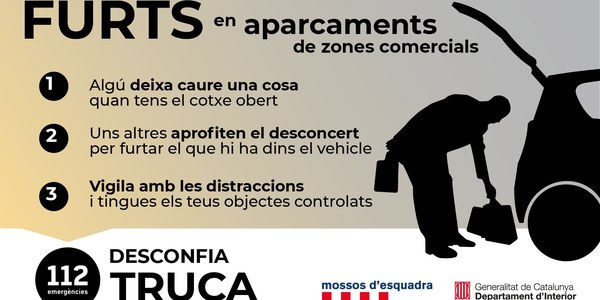 FURTS EN APARCAMENTS DE ZONES COMERCIALS